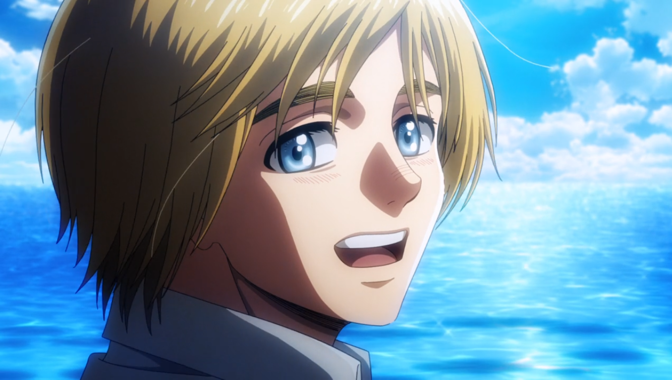 attack on titan season 3 part 2 armin smile