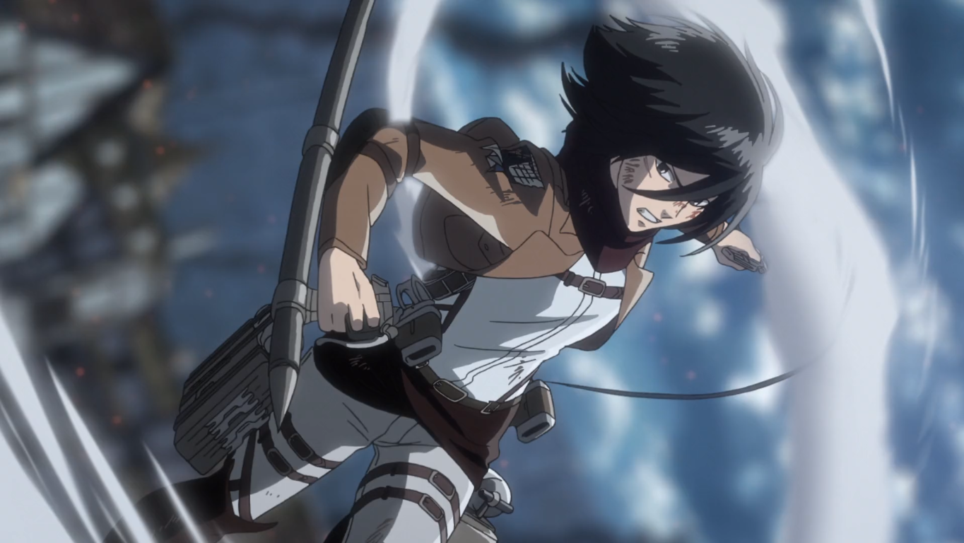 attack on titan season 3 part 2 Mikasa