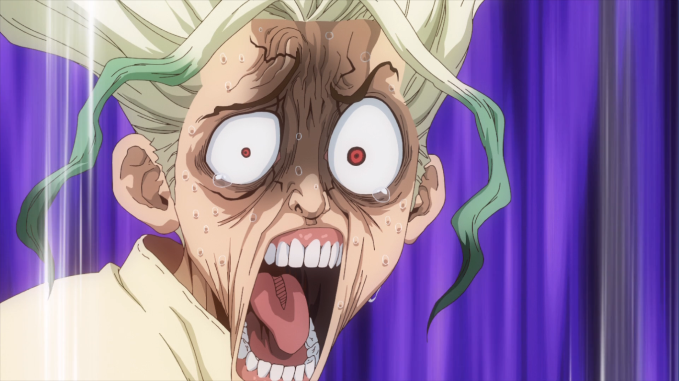 Dr. Stone anime reaction image